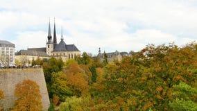 Kathedrale von Luxemburg-Stadt stock footage