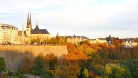 Kathedrale von Luxemburg-Stadt stock video footage