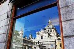 Kathedrale von Madrid Stockfotos