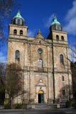 Kathedrale von Malmedy Stockbild