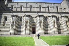 Kathedrale von Orvieto, Italien Rechte Seite gekennzeichnet durch Zweicol. lizenzfreie stockfotos