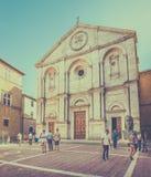 Kathedrale von Pienza, Toskana Lizenzfreies Stockbild