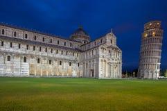 Kathedrale von Pisa und von lehnendem Turm im Quadrat von Wundern, I Lizenzfreie Stockbilder