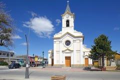 Kathedrale von Puerto Natales im Patagonia, Chile Lizenzfreies Stockbild