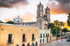 Kathedrale von San Gervasio in Valladolid, Mexiko Lizenzfreies Stockfoto