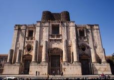 Kathedrale von ² Sans Nicolà l'Arena, Catania Stockfotografie