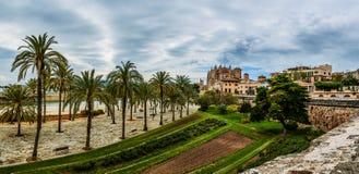 Kathedrale von Santa Maria von Palma, Spanien Stockbild