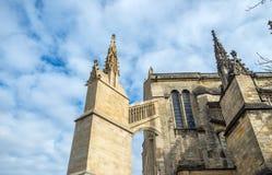 Kathedrale von St. Andre im Bordeaux, Frankreich Stockfotografie