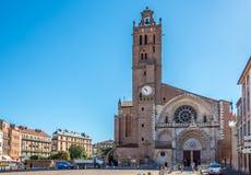 Kathedrale von St. Etienne in Toulouse lizenzfreies stockfoto