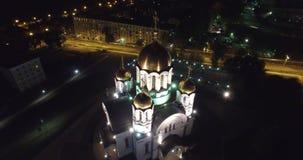Kathedrale von St George und von Monument stock footage