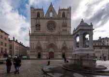 Kathedrale von St. Jean-Baptiste von Lyon Stockbilder