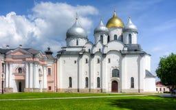 Kathedrale von St. Sophia, Novgorod, Russland Stockbild