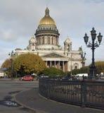 Kathedrale von Str. Isaak in St Petersburg Lizenzfreies Stockfoto