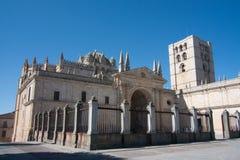 Kathedrale in Zamora Stockbild