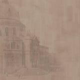 Kathedralehintergrund (Braun) Stockfoto