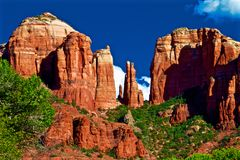 Kathedralen-Felsen in Arizona stockbild