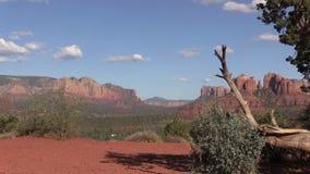 Kathedralen-Felsen-Landschaft Sedona Arizona Pan Lizenzfreie Stockfotografie
