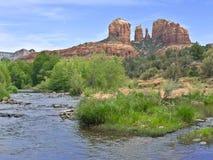 Kathedralen-Felsen nahe Sedona, Arizona Stockfotografie