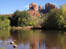 Kathedralen-Felsen nahe Sedona, Arizona Stockfotos