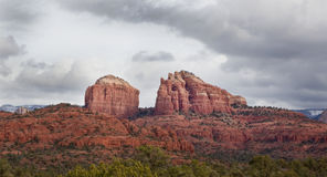 Kathedralen-Felsen in Sedona Arizona Lizenzfreies Stockbild