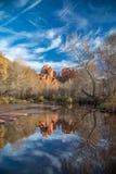 Kathedralen-Felsen Sedona, AZ stockfoto