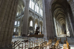 Kathedralen-Heiliges Gervais Saint Protais in Soissons, Frankreich Stockfotografie