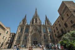 Kathedralen-heiliges Kreuz und Heiliges Eulalia stockbilder
