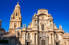 Kathedralen-Kirche der Heiliger Maria in Murcia, Spanien Lizenzfreie Stockbilder