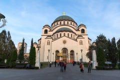 Kathedralen-Kirche des Heiligen Sava in der Mitte der Stadt von Belgrad, Serbien lizenzfreies stockbild