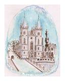 Kathedralen-Quadrat, Fantasie Lizenzfreies Stockfoto