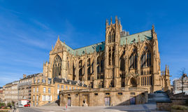 Kathedralen-Saint-Etiennede Metz, Lothringen, Frankreich Lizenzfreie Stockbilder
