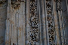 Kathedralen-Salamanca-Astronaut lizenzfreie stockbilder