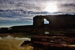 Kathedralen-Strand ist einer der sch?nsten Str?nde in Spanien, gefunden in Galizien im Norden von Spanien stockbild