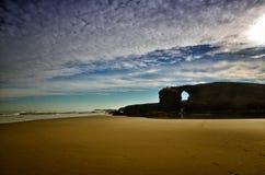 Kathedralen-Strand ist einer der sch?nsten Str?nde in Spanien, gefunden in Galizien im Norden von Spanien stockfoto