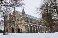 Kathedralen-und Abtei-Kirche des Heiligen Alban in St Albans, Großbritannien Stockbild
