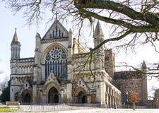 Kathedralen-und Abtei-Kirche des Heiligen Alban in St Albans, Großbritannien Lizenzfreies Stockfoto