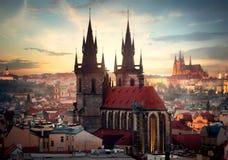Kathedralen von Prag stockbilder