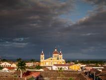 Kathedralende Granada Stockfoto