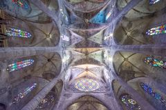 Kathedralende Santa Maria in Palma de Mallorca stockbilder