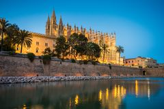 Kathedralende Santa Maria in Palma de Mallorca Spain lizenzfreies stockbild