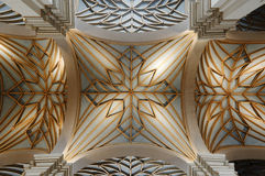 Kathedralendecke aus Lima stockfoto