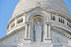 Kathedralendetail Paris Montmatre Lizenzfreies Stockfoto