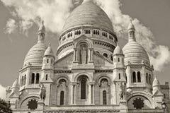 Kathedralendetail Paris Montmatre in Schwarzweiss Lizenzfreie Stockfotos