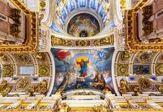 Kathedraleninnenraum St. Isaacs, St Petersburg, Russland stockbild
