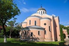 Kathedralentempel von heiligen Aposteln, Vratsa, Bulgarien stockbild