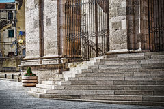 Kathedralentreppe Sans Nicola in Sassari Stockfotos