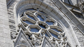 Kathedralenvorderfenster Stockfotografie