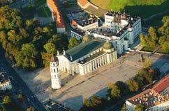 Kathedralequadrat in Vilnius, Litauen Stockfoto