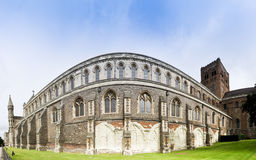 Kathedralewand England Str.-Albans Stockbilder