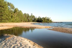 Katherine Cove. Lake Superior Provincial Park, Ontario Royalty Free Stock Photography